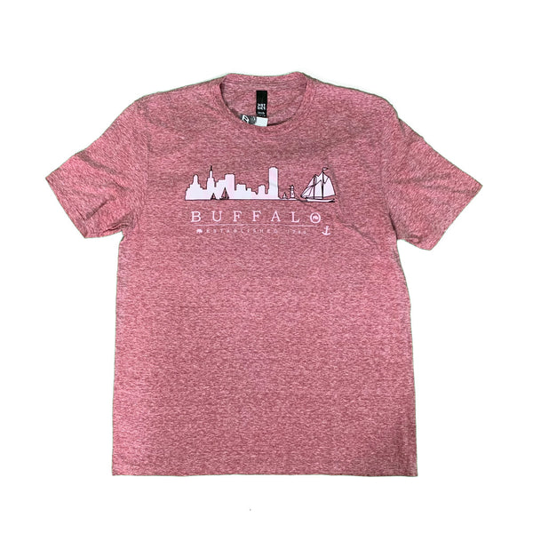 Heather Maroon Skyline Tee