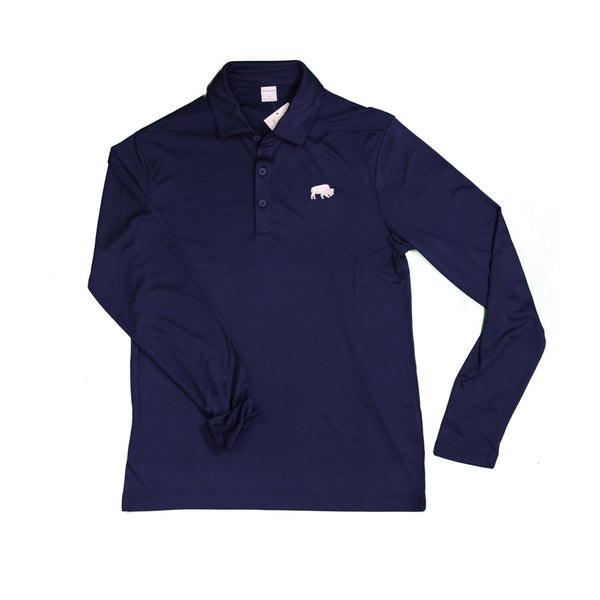 True Navy BFLO Performance Polo