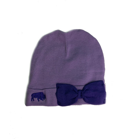 Purple infant knit cap