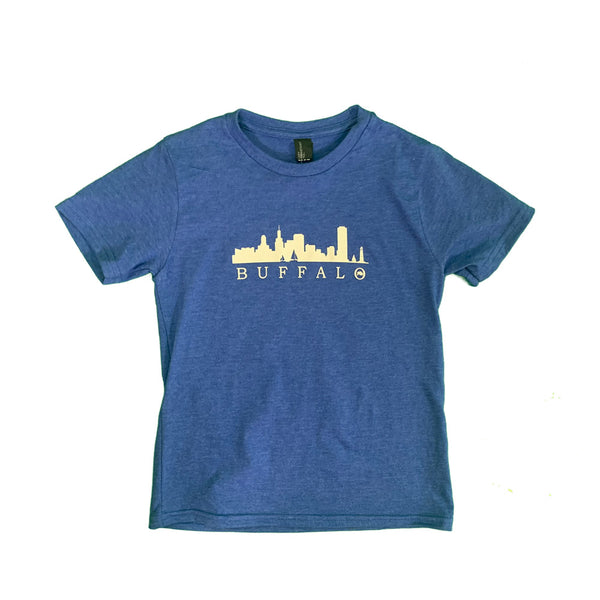 Youth Royal Frost Skyline tee