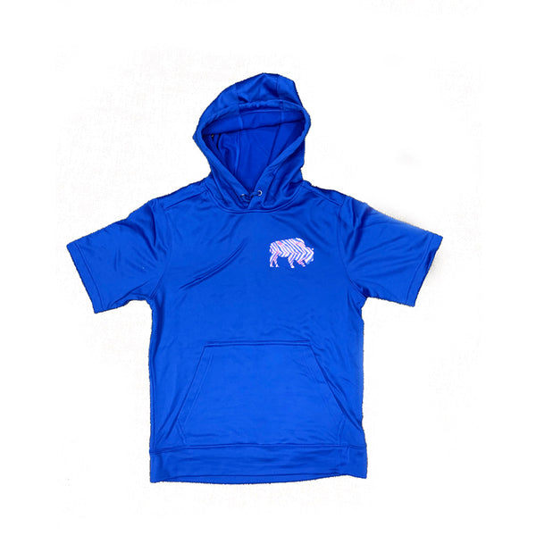 Royal Blue 2019 Playoffs Short Sleeve Hoodie