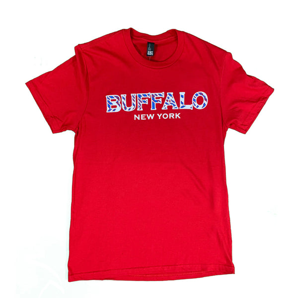 Red Buffalo New York Adidas Short Sleeve Tee