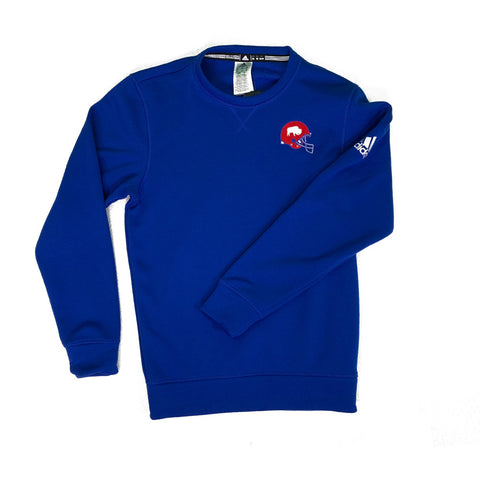 Adidas Royal Blue Buffalo Helmet Crewneck