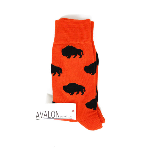 Avalon Red White & Blue Buffalo Socks