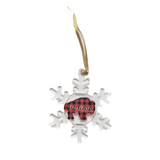 Buffalo Plaid Snowflake Ornament