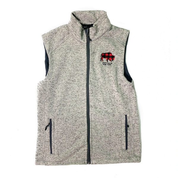 BFLO Plaid Fleece Sweater Vest