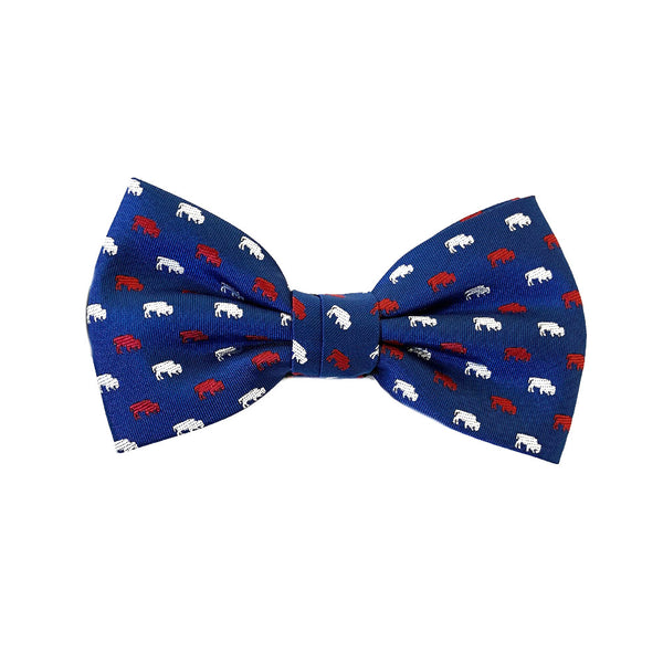 Royal Blue Red & White Bow Tie
