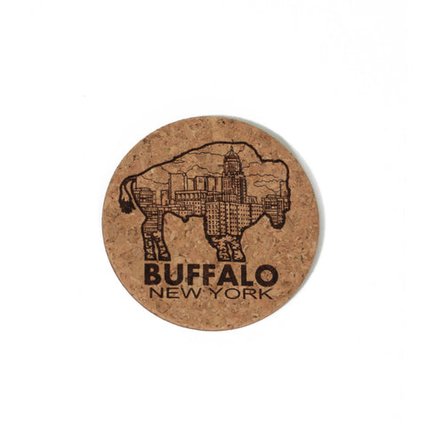 Buffalo Cork Coaster