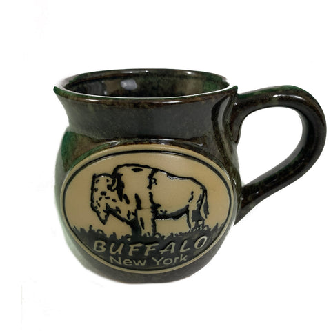 Green Buffalo Pottery Mug