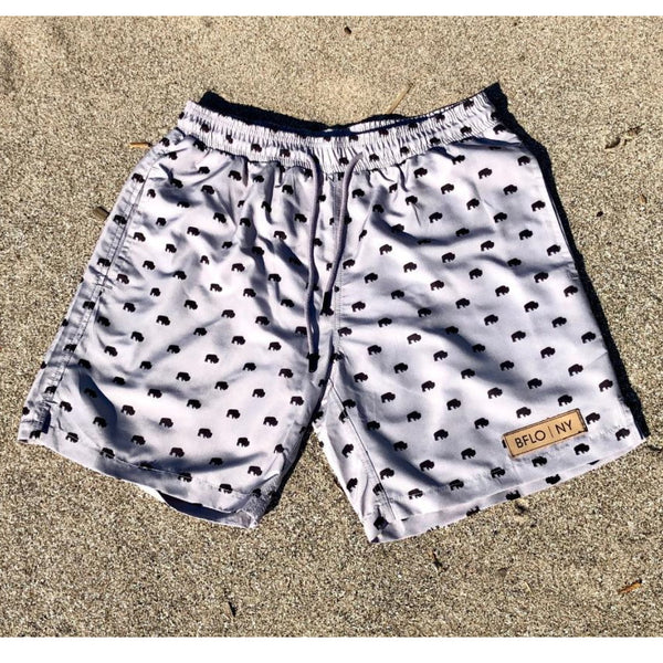 Ash Grey BFLO Men's Swim Trunks