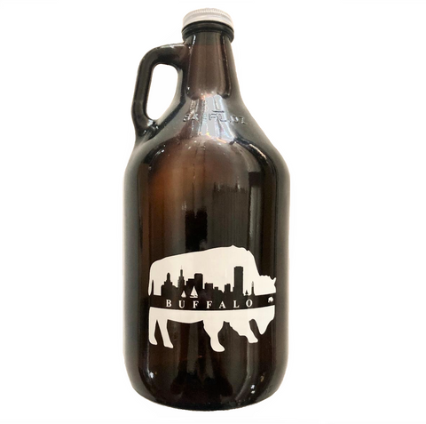 BFLO Amber Growler With Buffalo Skyline