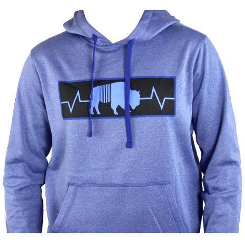 BFLO True Blue Heather Performance Hoodie