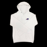 Womens Buffalo Bills White Fleece Pullover Hoodie