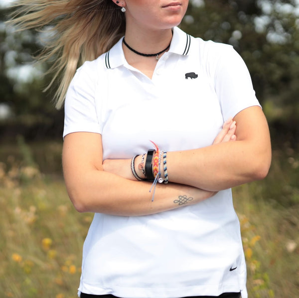 Womens Dri-Fit White Victory Polo