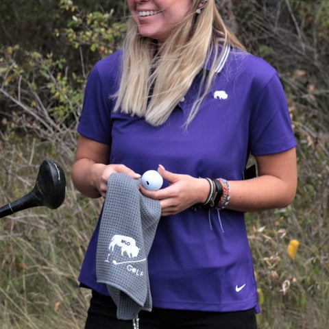Womens Dri-Fit Purple Victory Polo
