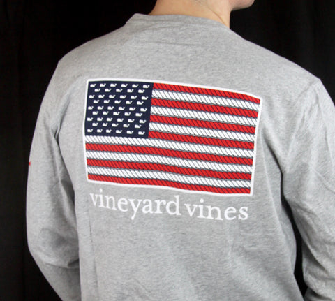 Vineyard Vines Patriotic Buffalo Rope Design LST