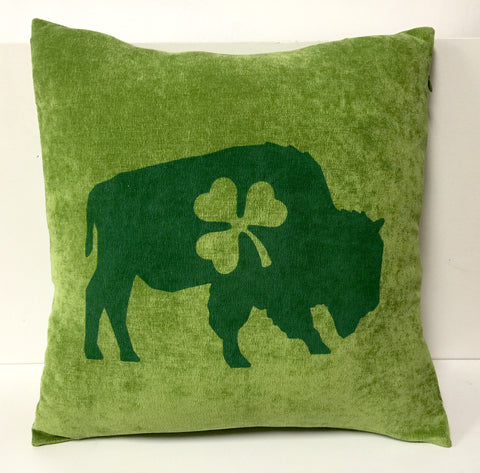BFLO Irish Shamrock Throw Pillow