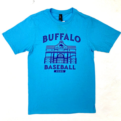 *SALE* Buffalo Baseball Light Blue Ballpark SST