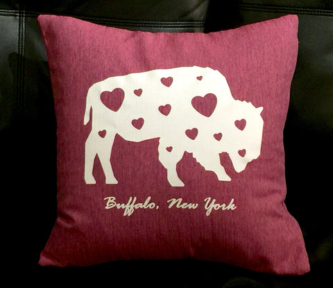 BFLO Hearts Throw Pillow