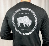 BFLO Charcoal Black Rope Design Long Sleeve Tee