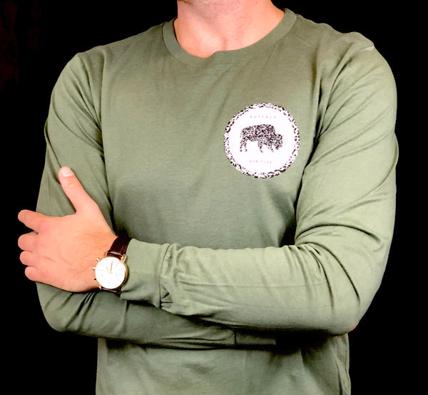 BFLO Outdoor Green Rope Design Long Sleeve Tee