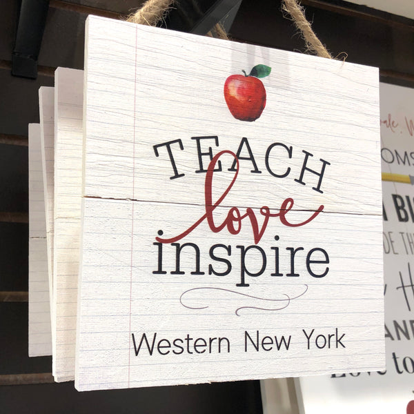 WNY Teachers Wooden Sign