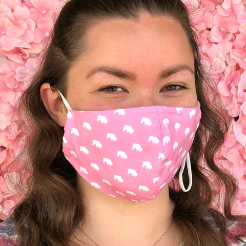 BFLO Pink Custom 3-Layer Washable Face Masks