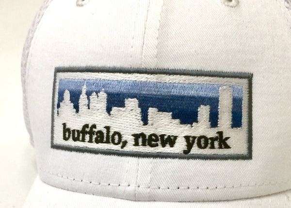 BFLO White Skyline New Era Cap