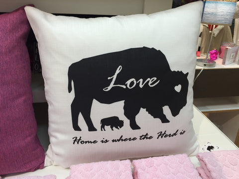 BFLO Love Throw Pillow
