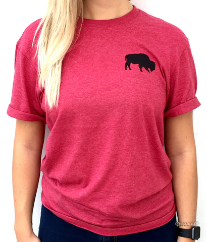 BFLO Heather Red Buffalo Tee Shirt