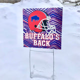 "Retro ""Buffalo's Back"" Playoffs Yard Signs"