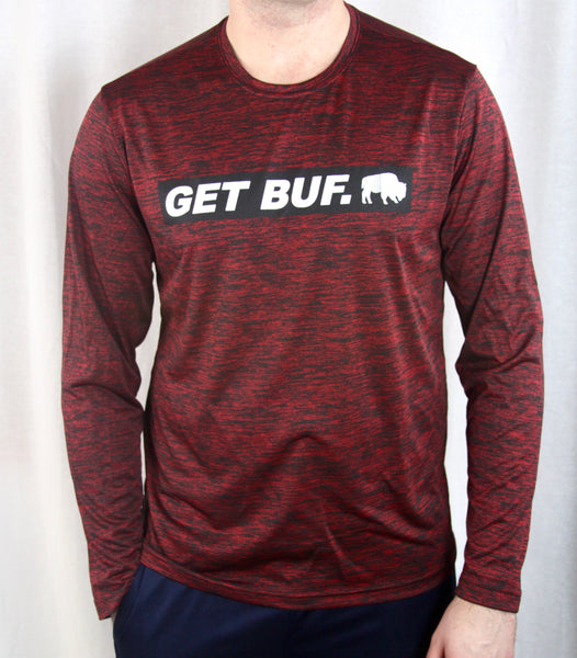 BFLO GET BUF. Deep Heather Red Long Sleeve Tee