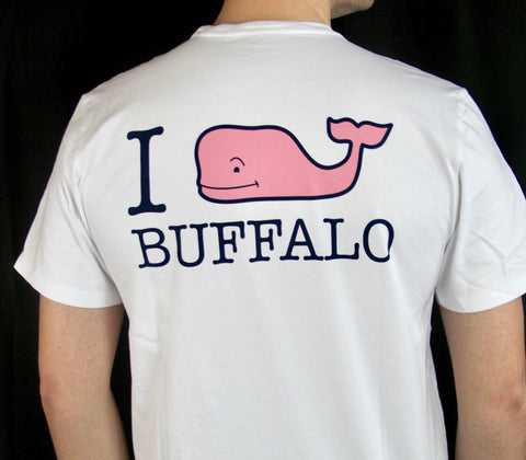 "Vineyard Vines White ""I Whale Buffalo"" SST"