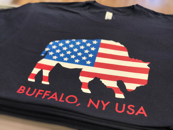BFLO Navy Made in USA T-Shirt