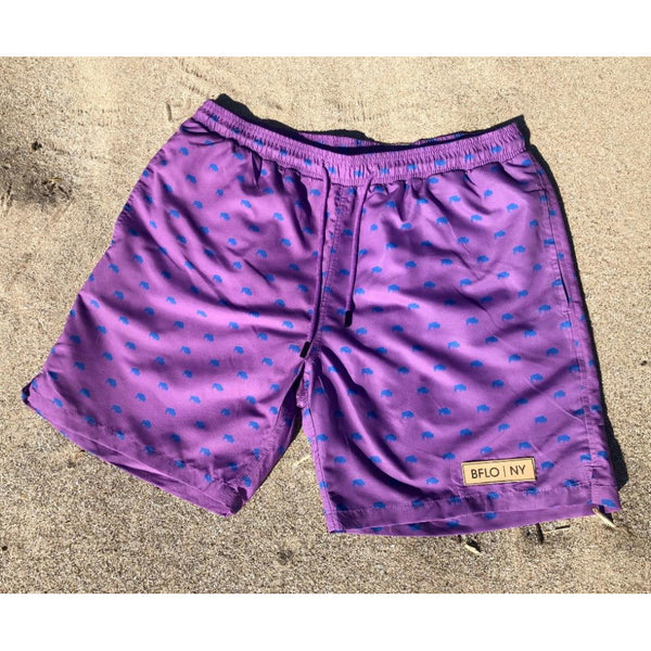 Lavender BFLO Men's Swim Trunks
