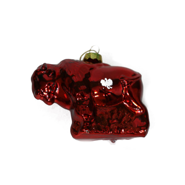 Red Buffalo Ornament