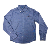 BFLO Untucked-Fit Navy Oxford Shirt