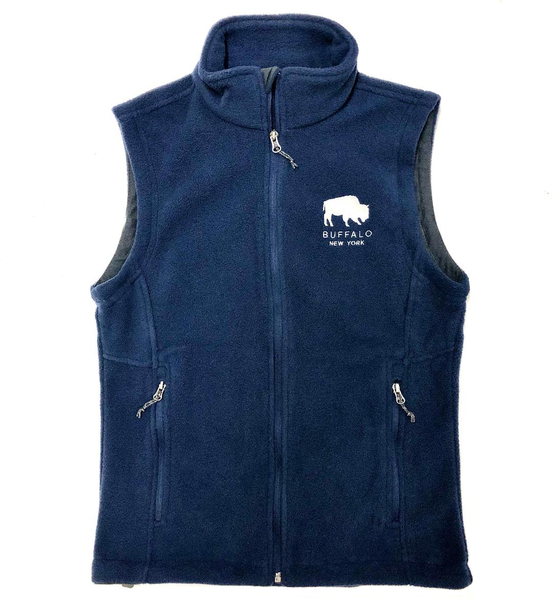 BFLO Navy Fleece Vest