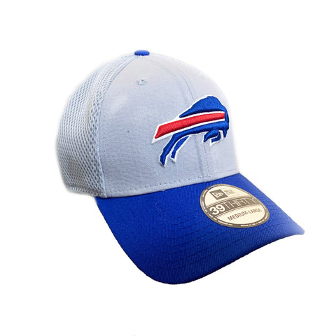 GREY & BLUE BUFFALO BILLS FITTED CAP