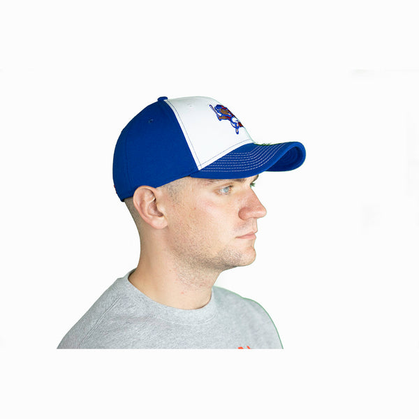 BLUE & WHITE BUFFALO BISONS FITTED CAP