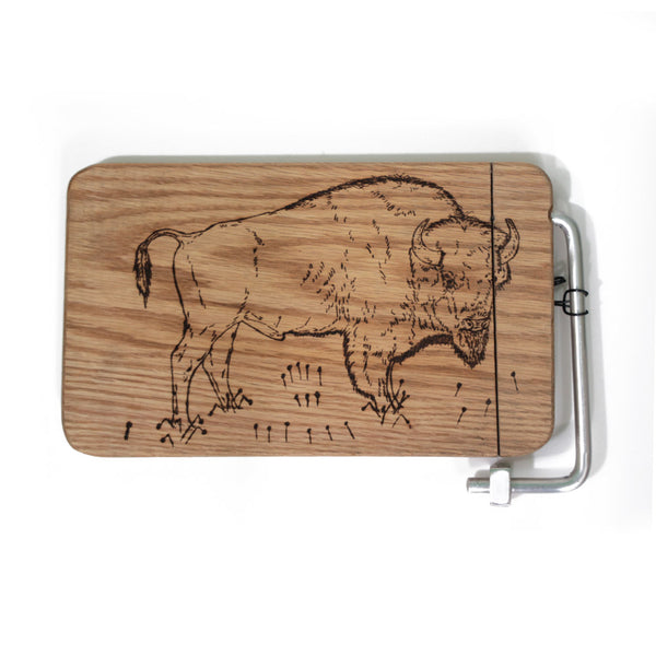 Small Buffalo Engraved Cheese Slicer