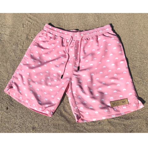 Pink BFLO Men's Swim Trunks