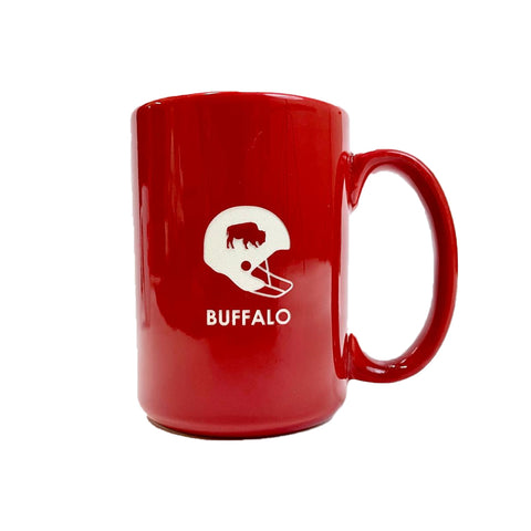 Buffalo Football Etched Red Mug 🏈