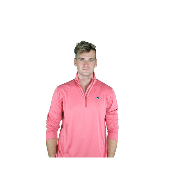 Vineyard Vines Jetty Red Performance 1/4 Zip Long Sleeve