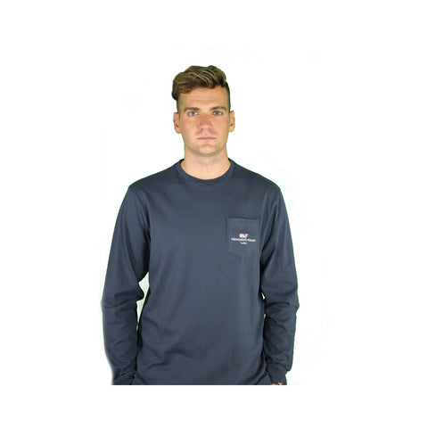 I Whale Buffalo Essential Long Sleeve Navy Tee