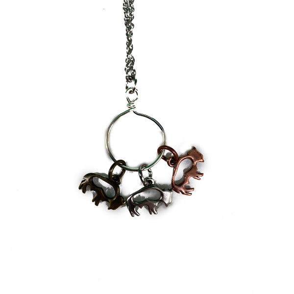 Shaun Silverwood Buffalo Charm Necklace