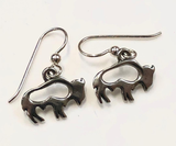 Silver Buffalo Herd Earrings