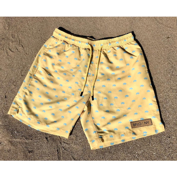 Sunlight Yellow BFLO Men's Swim Trunks