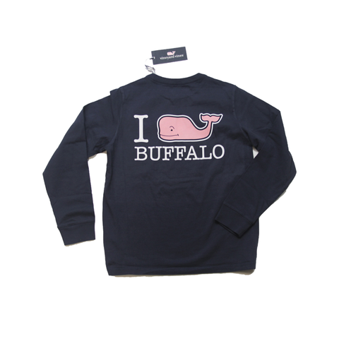Vineyard Vines Youth I Whale Buffalo Navy LST