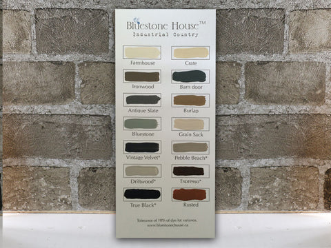 Bluestone House Colour Cards